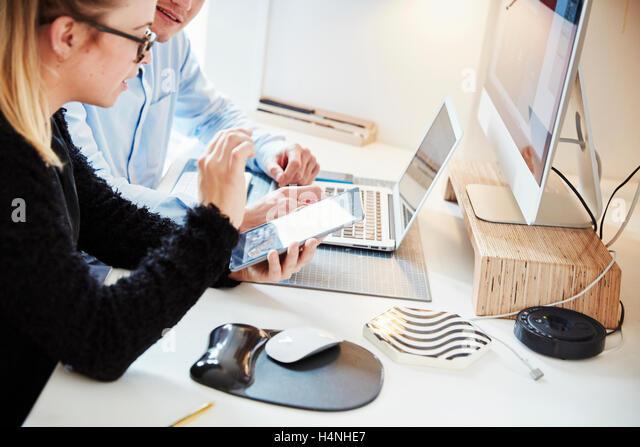 Graphic Designer Desk Designer Workstation Stock Photos