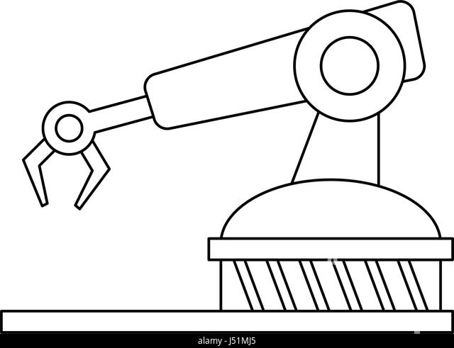 Assembly Icon: Assembly Line Black And White Stock Photos & Images