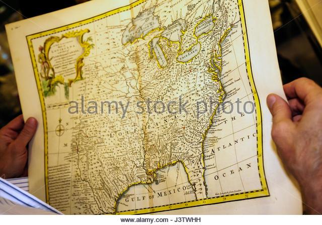Antique Map Of Louisiana Stock Photos Antique Map Of Louisiana - Antique map dealers