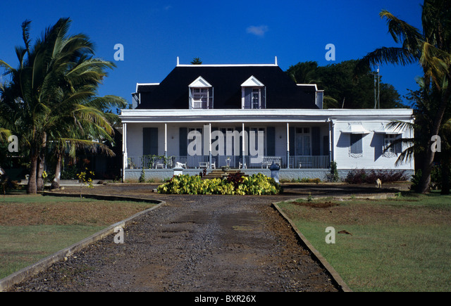 Mauritius colonial house stock photos mauritius colonial for Beau jardin apartments st louis