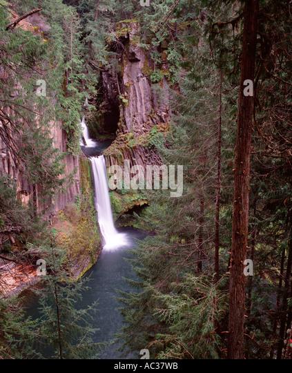Basalt Stone Umpqua National Forest : Toketee falls waterfall stock photos
