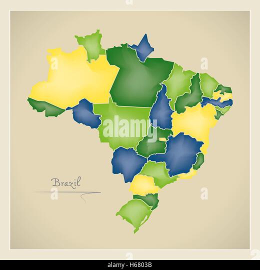 Map Brazil Illustration Stock Photos Map Brazil Illustration - Brazil map illustration