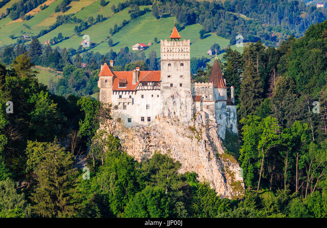 Brasov, Transylvania. Romania. The medieval Castle of Bran, known for the myth of Dracula. - Stock Image
