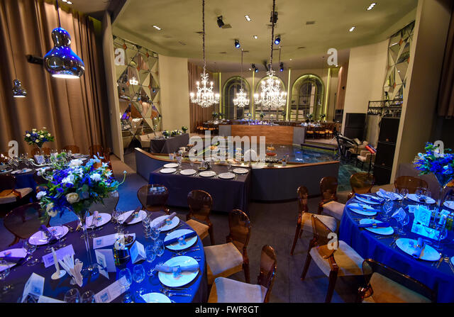 Fancy Interior Restaurant Ready For Guests
