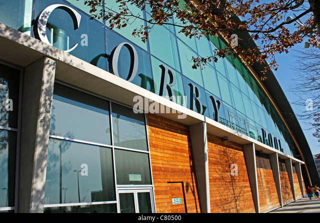 Corby town centre stock photos corby town centre stock images alamy for Corby international swimming pool