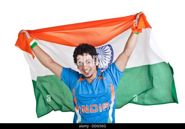 Indian Flag Cricket: Indian Flag Cricket Stock Photos & Indian Flag Cricket