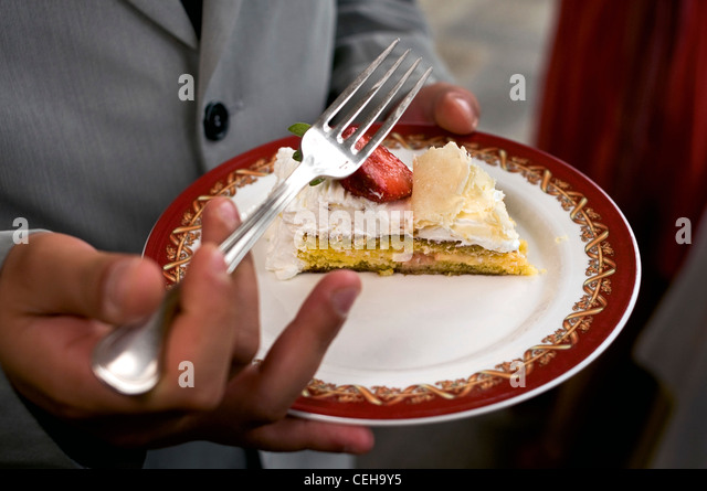 Indian Wedding Woman Feeds Man Cake