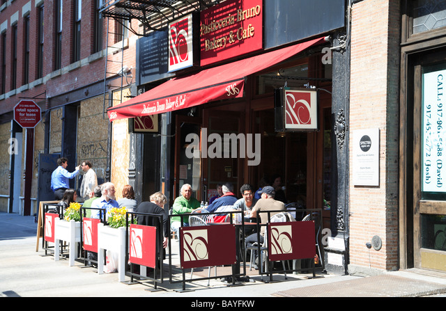Charming Bakery And Outdoor Cafe Greenwich Village New York City   Stock Image