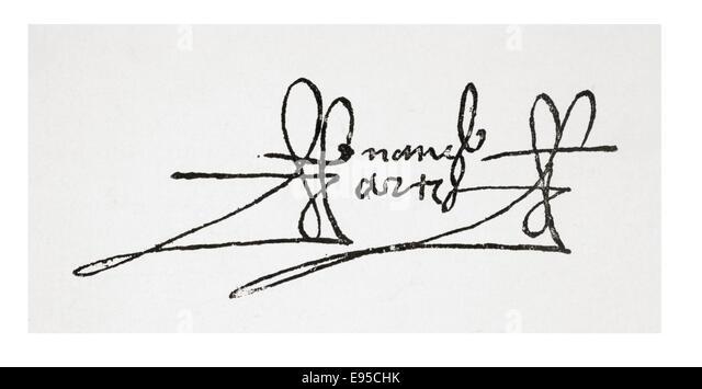 signature of hernn corts de monroy y pizarro 1st marquis of the valley of oaxaca