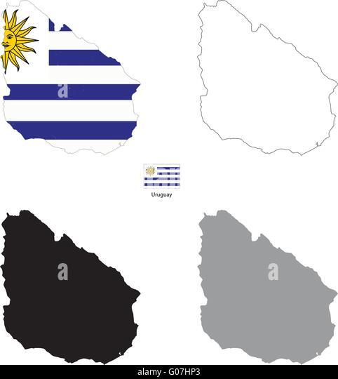 Uruguay Blank Map Stock Photos Uruguay Blank Map Stock Images - Uruguay blank map