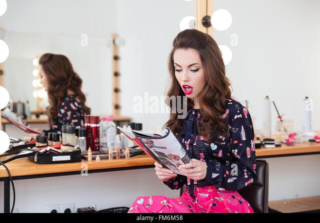 Stylist magazine stock photos stylist magazine stock for Reading beauty salon