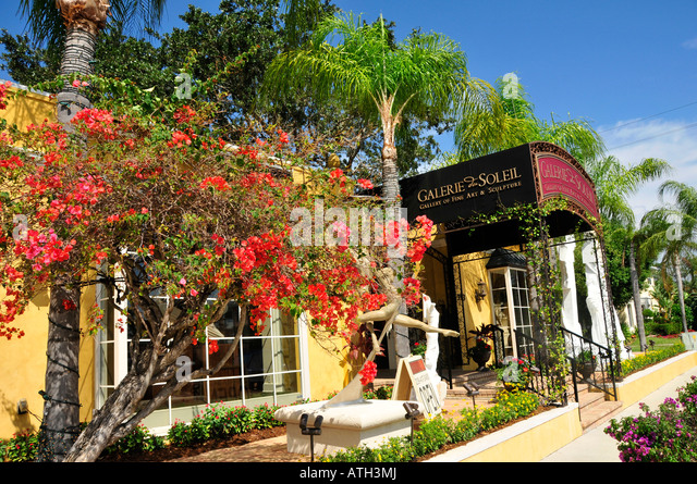 Naples Florida Main Downtown Shopping District Gallery Row   Stock Image