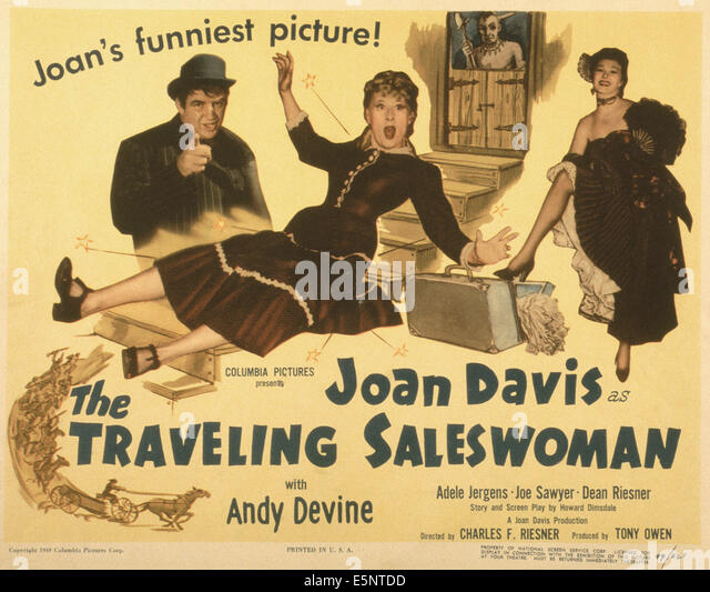 traveling saleswoman sheet movie poster joan davis andy devine