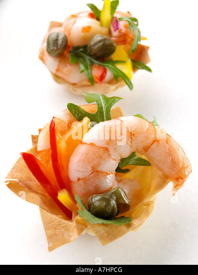 Prawn canapes stock photos prawn canapes stock images for Canape cup fillings