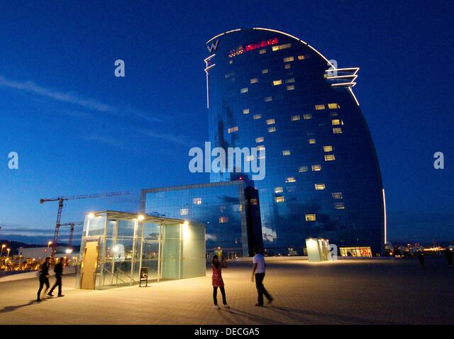 Hotel barcelona hotel vela ricardo stock photos hotel for Hotel vela de barcelona