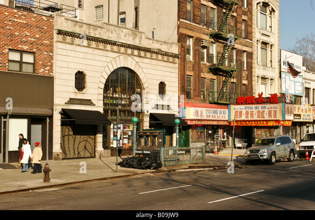 Bowery new york city stock photos bowery new york city for Bank ballroom with beautiful mural nyc