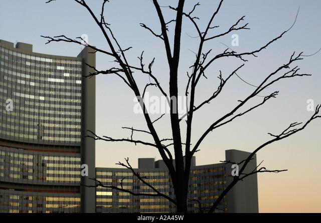 Modern Architecture Vienna united nations office vienna stock photos & united nations office