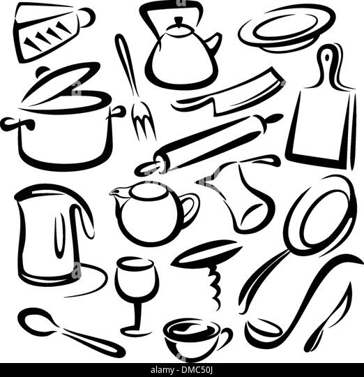 Kitchen Tools Drawings big wok stock photos & big wok stock images - alamy