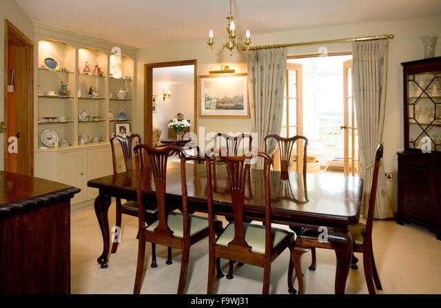 traditional dark oak furniture. dining room with traditional dark wood furniture stock image oak