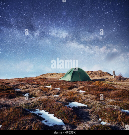 the starry sky above the tent in the mountains. Magic event in f - Stock & Outdoor Event Tent Stock Photos u0026 Outdoor Event Tent Stock Images ...