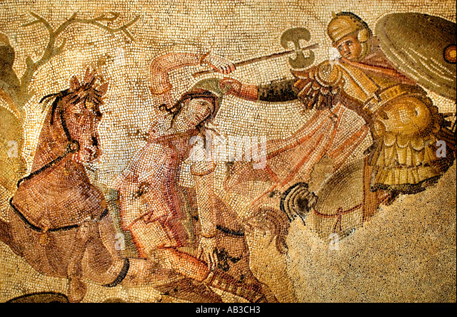 Roman goddess painting stock photos roman goddess for Ancient roman mural