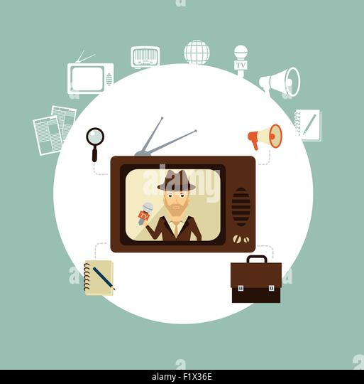 Schreibtisch clipart  Tv Journalist Stock Photos & Tv Journalist Stock Images - Alamy