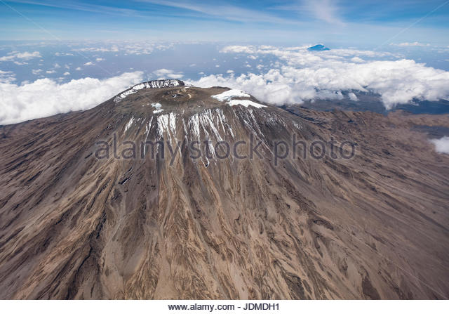 The peak of Mount Kilimanjaro. - Stock Image