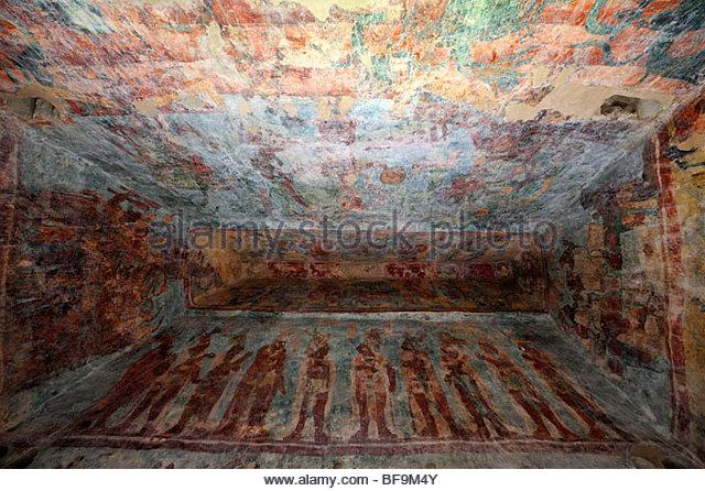Maya murals stock photos maya murals stock images alamy for Bonampak mural painting