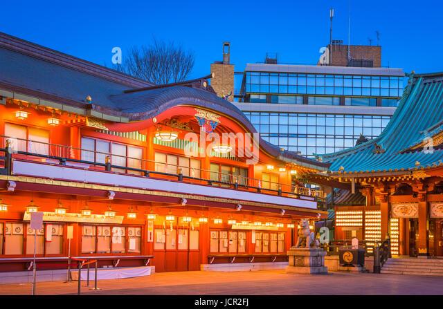 Tokyo, Japan at Kanda Shrine's main gate. - Stock Image