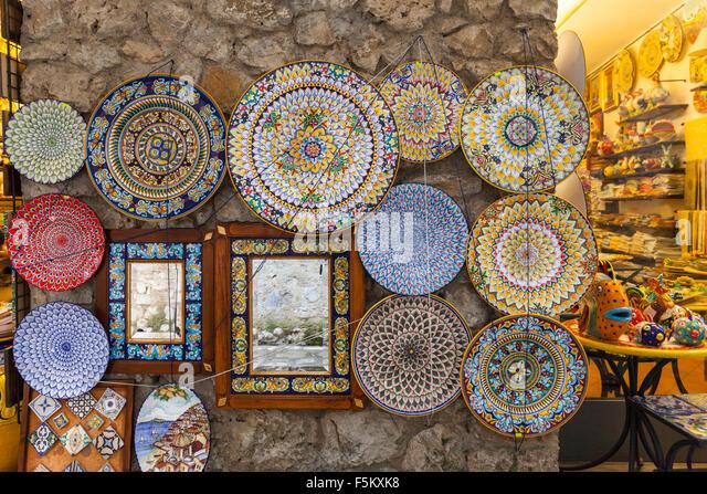 Ceramic Shop Ravello Amalfi Coast Stock Photos Amp Ceramic