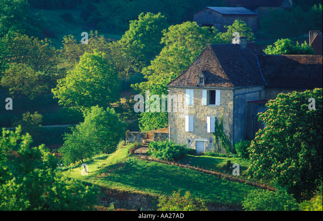 Country House In The Dordogne Valley Quercy France   Stock Image