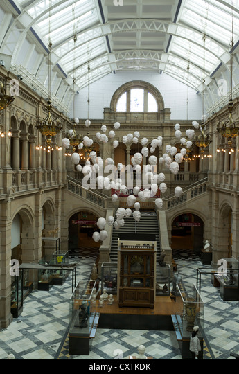 Exhibition Displays Glasgow : Kelvingrove art gallery interior stock photos