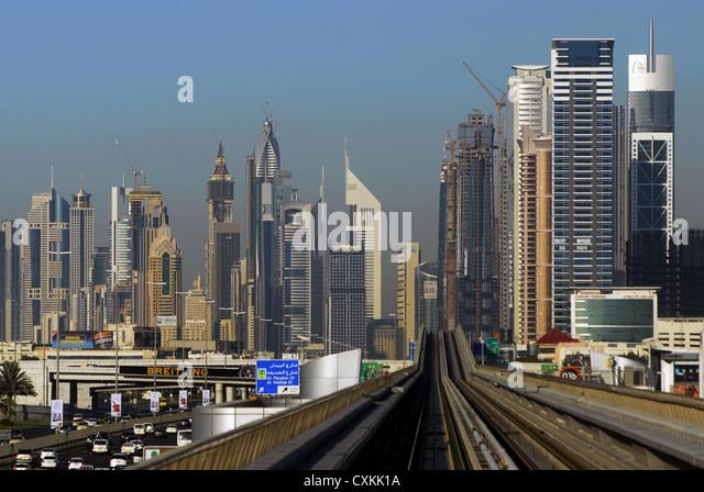 Sheikh Zayed Road Skyline Stock Photos Amp Sheikh Zayed Road