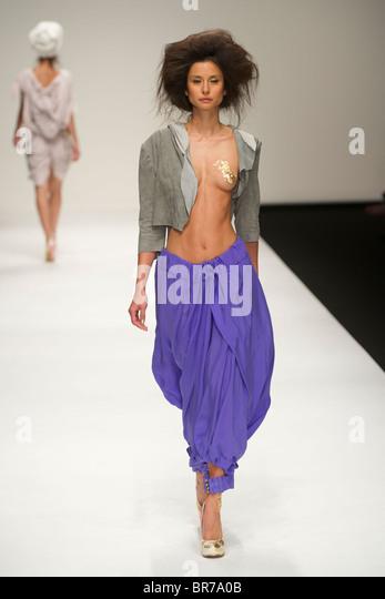 Male Model Walks Catwalk During Stock Photos & Male Model ...