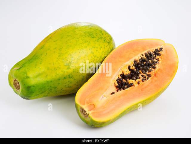 how to cut a mexican papaya