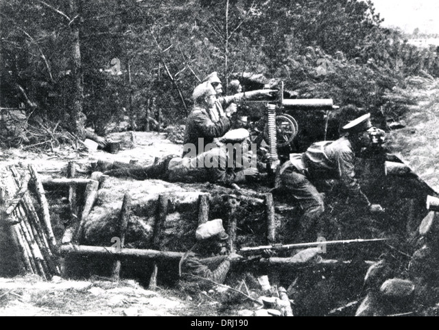 machine gun nest ww1
