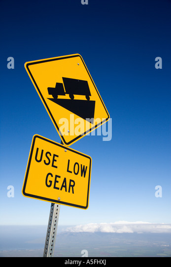 Low Gear Road Sign Stock Photos & Low Gear Road Sign Stock ...