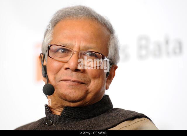 nobel peace prize laureate muhammad yunus during a public debate on responsible capitalism in prague