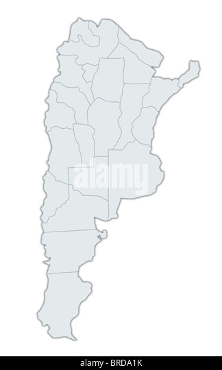 Argentina Map Stock Photos Argentina Map Stock Images Alamy - Argentina map with provinces