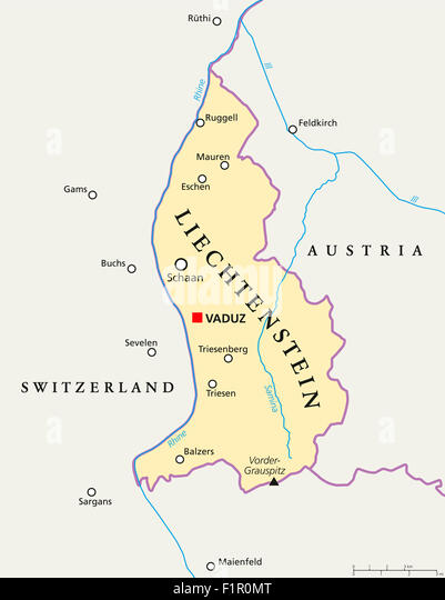 Triesen stock photos triesen stock images alamy liechtenstein political map with capital vaduz national borders important cities and rivers english publicscrutiny Gallery