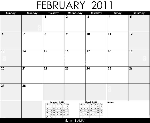 February Calendar Illustration : February number stock photos