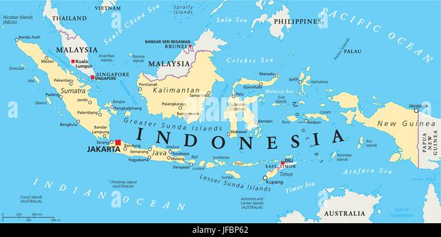 Bali map stock photos bali map stock images alamy indonesia political map stock image gumiabroncs Images