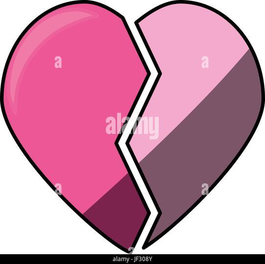 Broken Heart Symbol Stock Photos Broken Heart Symbol Stock Images