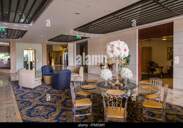 Interior Decor Of The Intercontinental Hotel In Amman Hashemite Kingdom Jordan Middle East