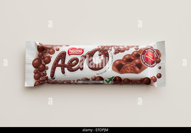 Aero Caramel Chocolate Bar Stock Photo, Royalty Free Image ...