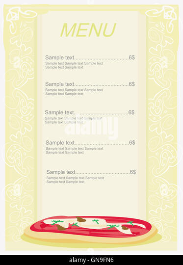 Pizza Menu Template Stock Photos & Pizza Menu Template Stock