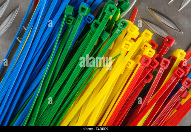 Color Cable Ties Stock Photos & Color Cable Ties Stock Images - Alamy