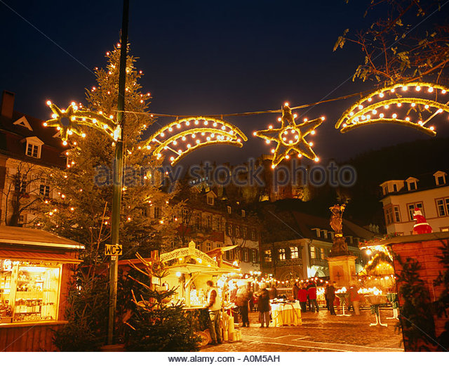 Germany Heidelberg Christmas Market Stock Photos & Germany ...