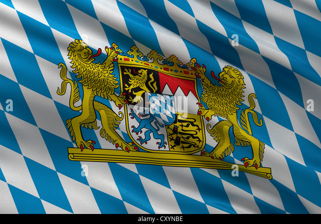 Bavarian State Flag Germany Stock Photos & Bavarian State ...