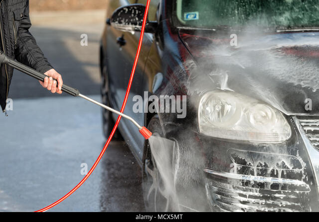 Self car wash stock photos self car wash stock images alamy car without touch washing self service wash with water and foam stock solutioingenieria Choice Image